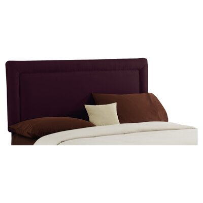 Border Upholstered Panel Headboard Size: Twin, Color: Chocolate