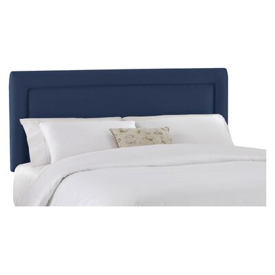 Border Upholstered Panel Headboard Size: California King, Finish: Lazuli