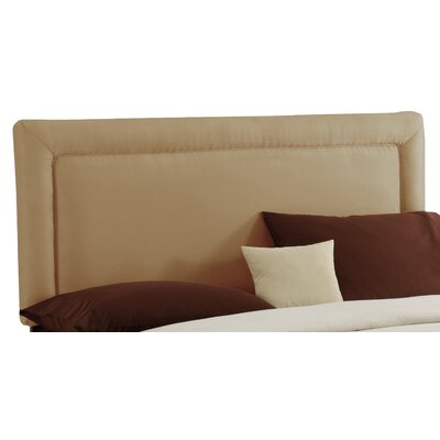 Border Upholstered Panel Headboard Size: California King, Finish: Saddle