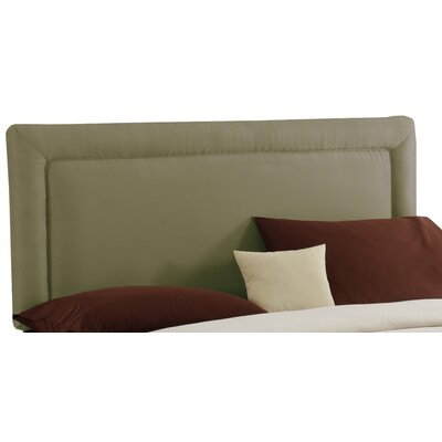 Border Upholstered Panel Headboard Size: Twin, Finish: Sage
