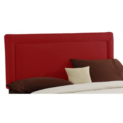 Border Upholstered Panel Headboard Size: Twin, Color: Red