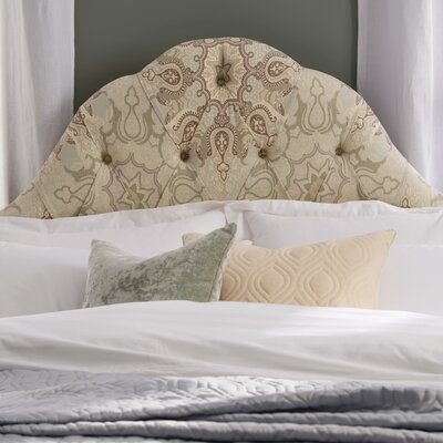 Madeira Tufted Polyester Upholstered Headboard Size: Full