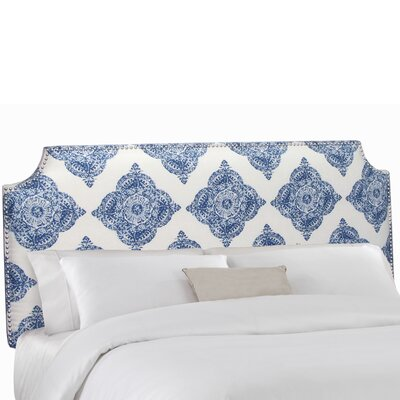 Notched Upholstered Panel Headboard Size: California King