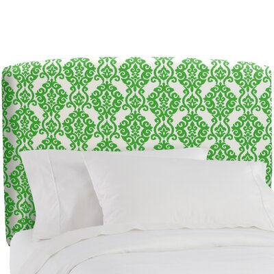 Upholstered Panel Headboard Color: Luminary Emerald, Size: Queen