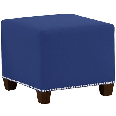 Square Nail Button Ottoman Upholstery Color: Duck Gazebo