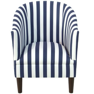 Diana Barrel Chair Upholstery: Canopy Stripe Blue/White