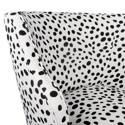 Tobar Wingback Chair Upholstery: Togo Black and White