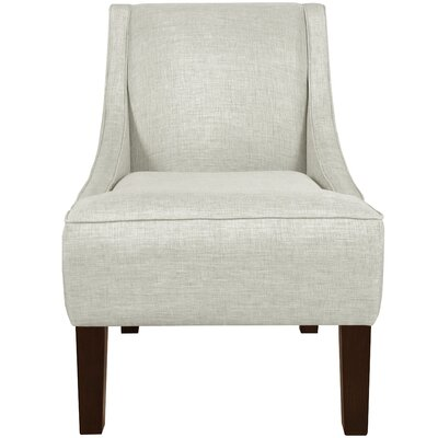 Goldhorn Armchair Upholstery: Velvet Apple Green, Nailhead Detail: Pewter Nailhead