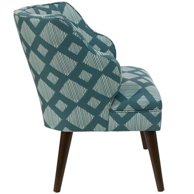 Tobar Wingback Chair Upholstery: Line Lattice Teal OGA