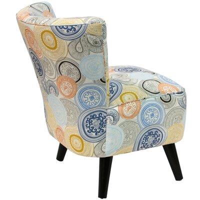 Crown Slipper Chair Upholstery: Painterly Medallion Multi OGA