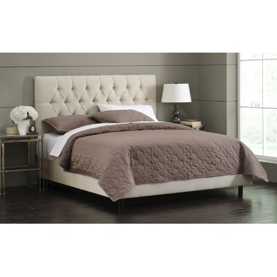 Upholstered Panel Bed Size: Full, Upholstery: Oatmeal