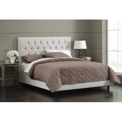 Upholstered Panel Bed Size: California King, Color: White