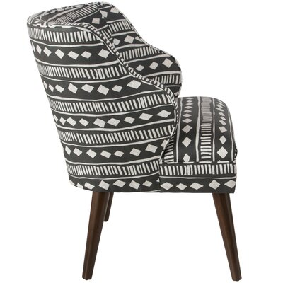 Tobar Wingback Chair Upholstery: Mali Cloth Black OGA