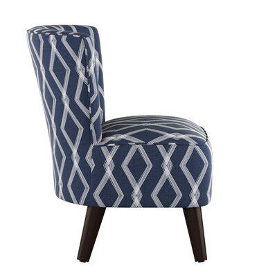 Crown Slipper Chair Upholstery: Crossweave Blue OGA