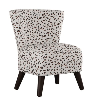 Crown Slipper Chair Upholstery: Neo Leo Cream Tan Black OGA