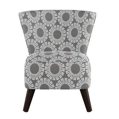 Crown Slipper Chair Upholstery: Medallion Charcoal OGA