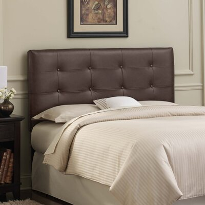 Bad credit financing Tufted Leather Upholstered Headboar...