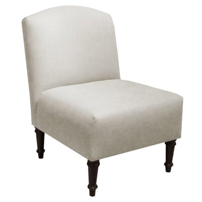 Georgina Linen Slipper Chair Color: Talc