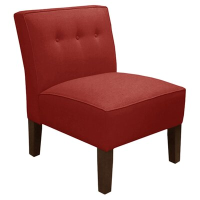 Garden Slipper Chair Upholstery: Linen Antique Red