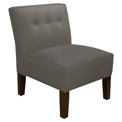 Garden Slipper Chair Upholstery: Twill Grey