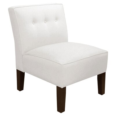 Garden Slipper Chair Upholstery: Twill White