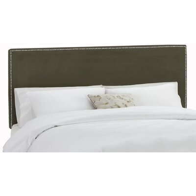 Marion Velvet Upholstered Panel Headboard Size: King