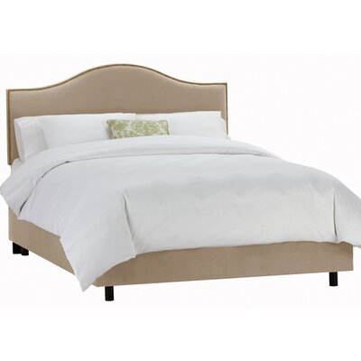 Carnaby Tufted Velvet Upholstered Panel Bed Size: Queen