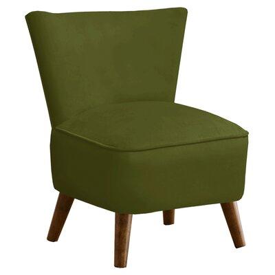 Holloway Velvet Slipper Chair Color: Apple Green