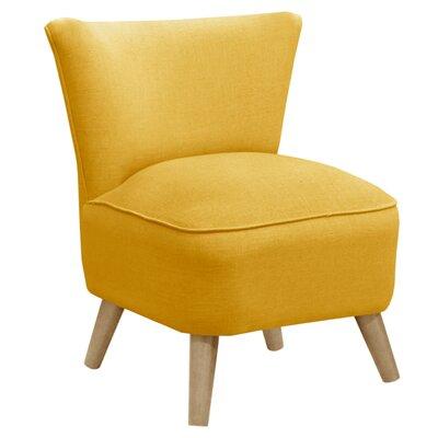 Holloway Linen Slipper Chair Color: French Yellow/Natural