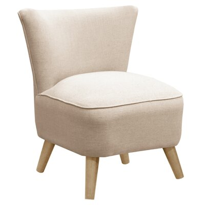 Holloway Linen Slipper Chair Color: Talc/Natural