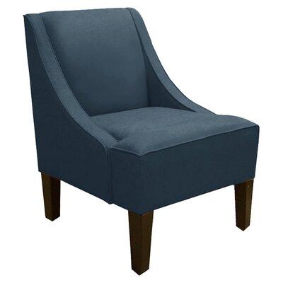 Elvie Linen Arm chair Color: Navy