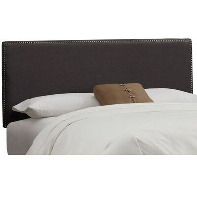 Marion Linen Upholstered Headboard Size: King, Color: Charcoal