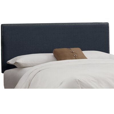 Marion Linen Upholstered Headboard Size: King, Color: Navy