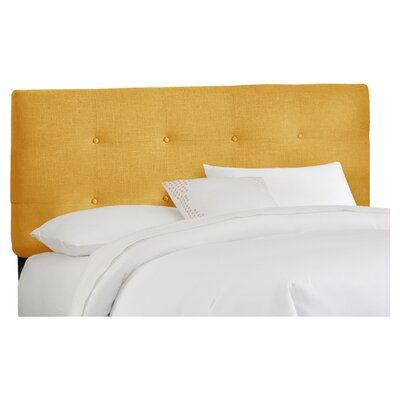 Parnell Tufted Linen Upholstered Headboard Size: King, Color: French Yellow