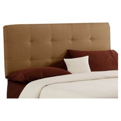 Parnell Tufted Polyester Upholstered Headboard Size: Queen, Color: Saddle