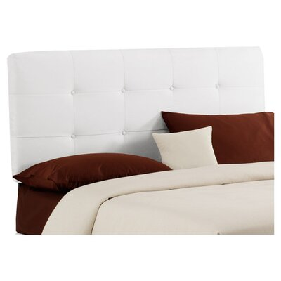 Parnell Tufted Velvet Upholstered Headboard Size: Full, Color: White