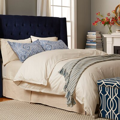 Costello Tufted Cotton Upholstered Panel Bed Size: California King, Color: Regal Navy