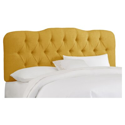 Carnaby Tufted Linen Upholstered Headboard Size: Queen, Color: French Yellow