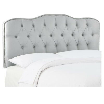 Carnaby Tufted Shantung Upholstered Headboard Size: King