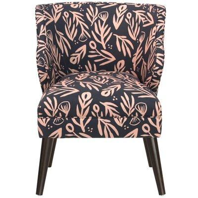 Alejandra Modern Bold Floral Linen/Cotton Armchair
