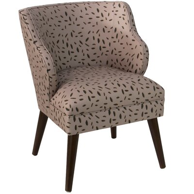 Palmer Modern Leo Dot Linen/Cotton Side Chair