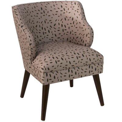 Palmer Modern Leo Dot Linen/Cotton Side Chair