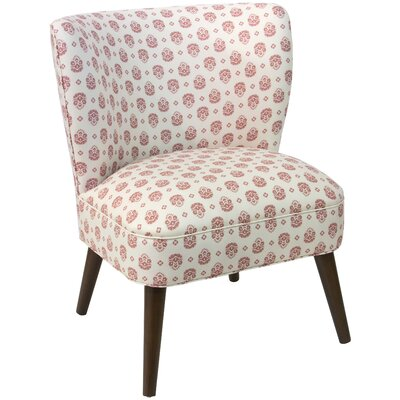 Blanch Small Block Floral Dusty Linen/Cotton Barrel Chair