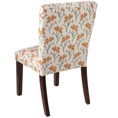 Vanslyke Tufted Vanves Floral Parsons Chair