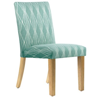 Aspasia Side Chair Upholstery: Blue