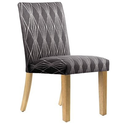 Aspasia Side Chair Upholstery: Charcoal