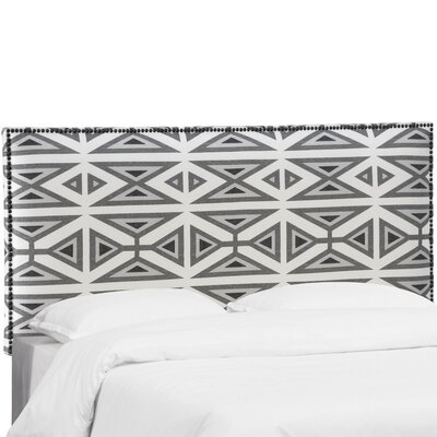 Kaylyn Nail Button Border Navajo Upholstered Panel Headboard Size: Full