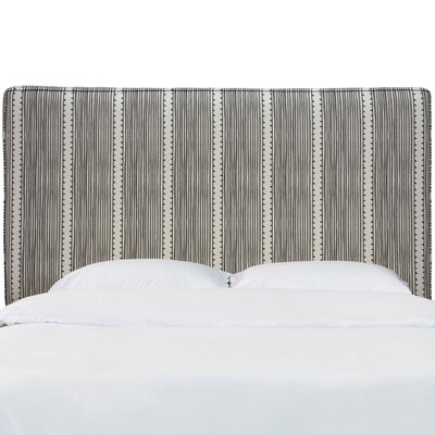 Eden Stripe Box Seam Upholstered Panel Headboard Size: King