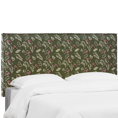 Mariela Seam Slipcover Debris Floral Upholstered Panel Headboard Size: King