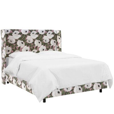 Adalia Bloomsbury Rose Upholstered Wingback Bed Size: Twin